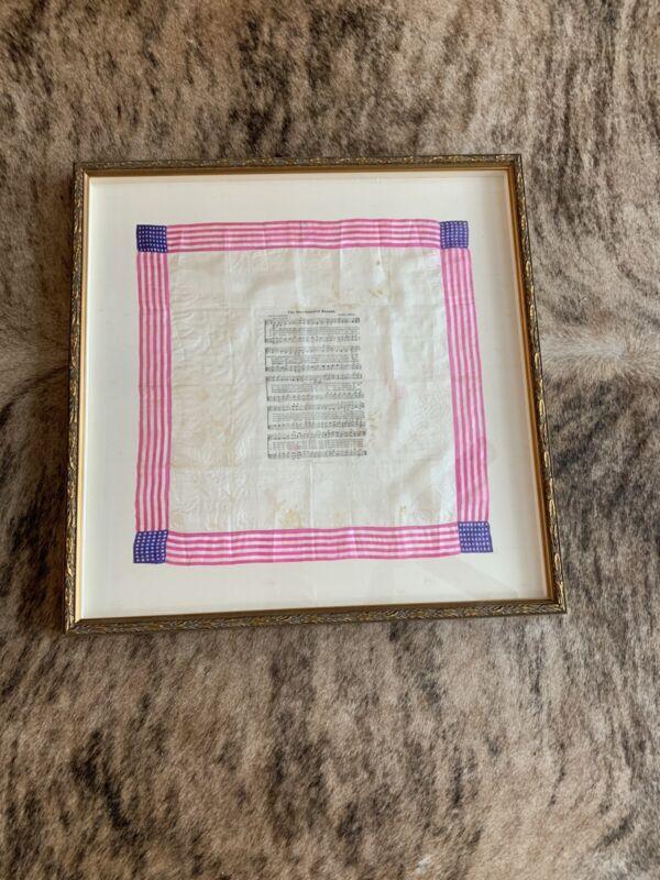 Vintage Star Spangled Banner Silk Handkerchief