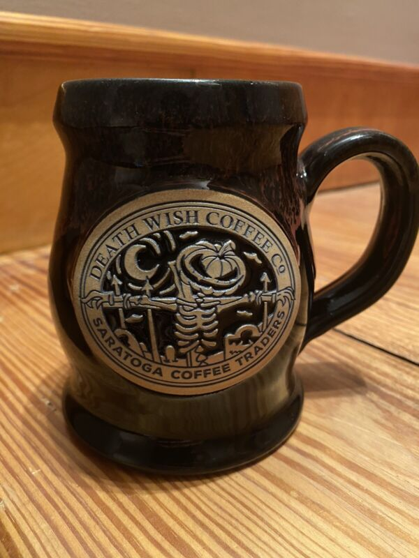 Saratoga Coffee Traders Death Wish Coffee Jack Deneen Pottery First Edition Mug
