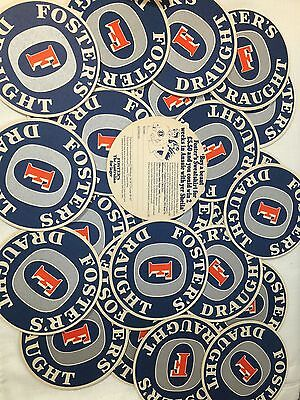 25 Foster's Beer Draught Coasters/Bar Mats Vintage 1982 English Pub  25 Coasters