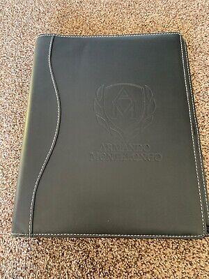Armando Montelongo Black Binder Zipper Portfolio Organizer Business Planner