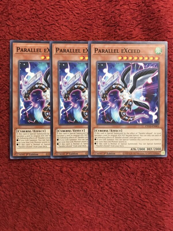 3x Parallel EXceed, ETCO-EN001, 1st Ed, Common, NM, SHIP NEXT DAY