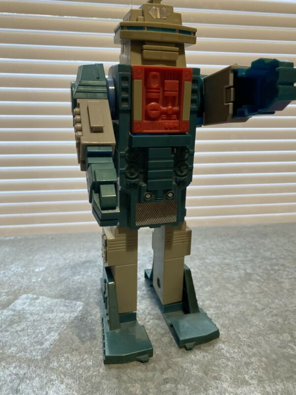 Vtg ARCO Aircraft Carrier Robot Transformer Plastic Toy 13 Inches Long