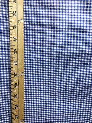Blue Gingham Fabric (ROYAL BLUE WHITE PLAID GINGHAM 100% COTTON FABRIC (45 in.) Sold)