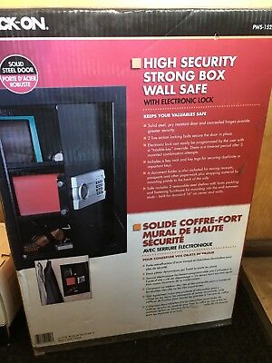 New in Box High Security Strong Wall Safe Electronic Lock PWS 15222 Stack On Gun