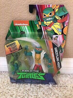 TMNT WRESTLING MIKEY Shredder Bullhop Rise of the Teenage Mutant Ninja Turtles