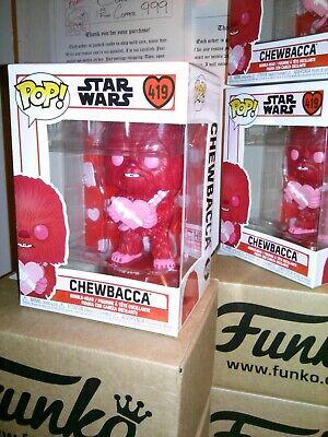 Funko Pop *FREE Protector* Star Wars CHEWBACCA #419 ( Valentine's Day )