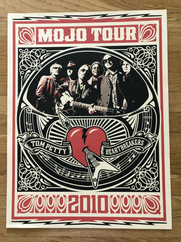 Tom Petty and The Heartbreakers Poster, 2010 Mojo Tour  - Shepard Fairey