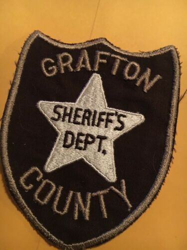 Grafton County Sheriff New Hampshire Vintage Police Patch