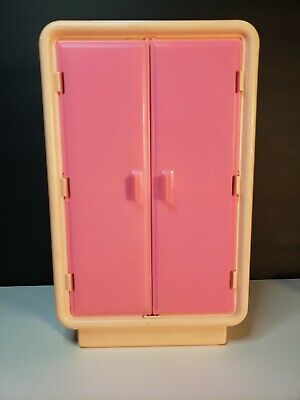 Vintage Barbie Doll Wardrobe Armoire Closet Dream-house Furniture 1970's
