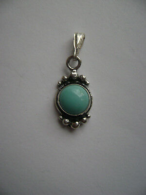 Sterling Silver Genuine Turquoise Stone Pendant New