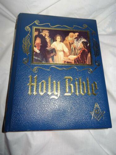 Blue Holy Bible Masonic Edition - Heirloom Family Bible [1988]