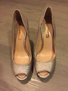BCBG metallic high heels
