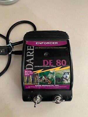 Euc Dare 110v Enforcer 3 X 7-12 X 5-12 Electric Fencer Fence Charger De80