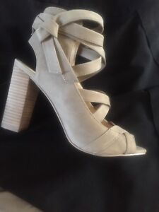 Vince Camuto open toe leather booties