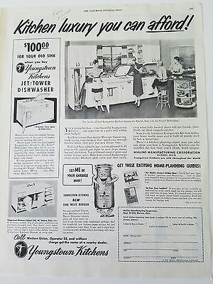 1953 Youngstown Steel kitchen luxury you can afford vintage ad