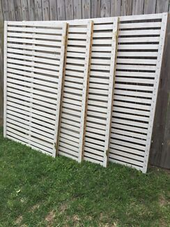 White Wooden Screens