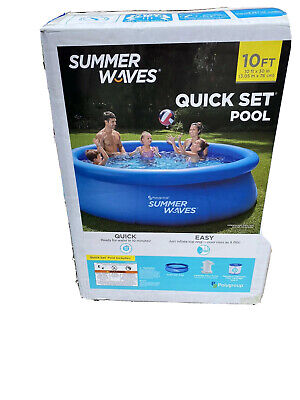 """Summer Waves 10ft x 30"""" Inflatable Quick Set Intex Above Ground Pool"""