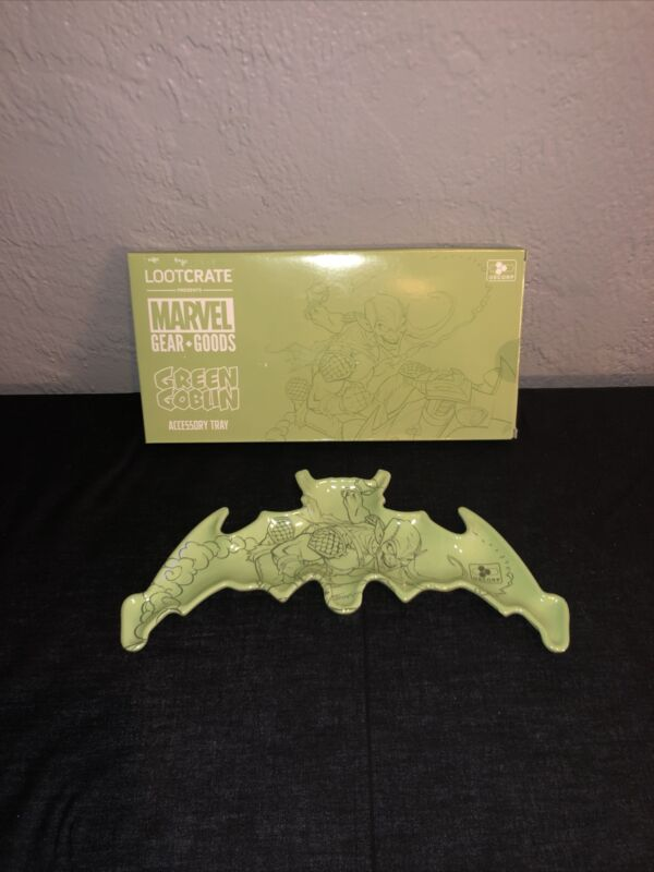 Loot Crate Green Goblin Accessory Tray New Marvel Gear + Goods Spider-man