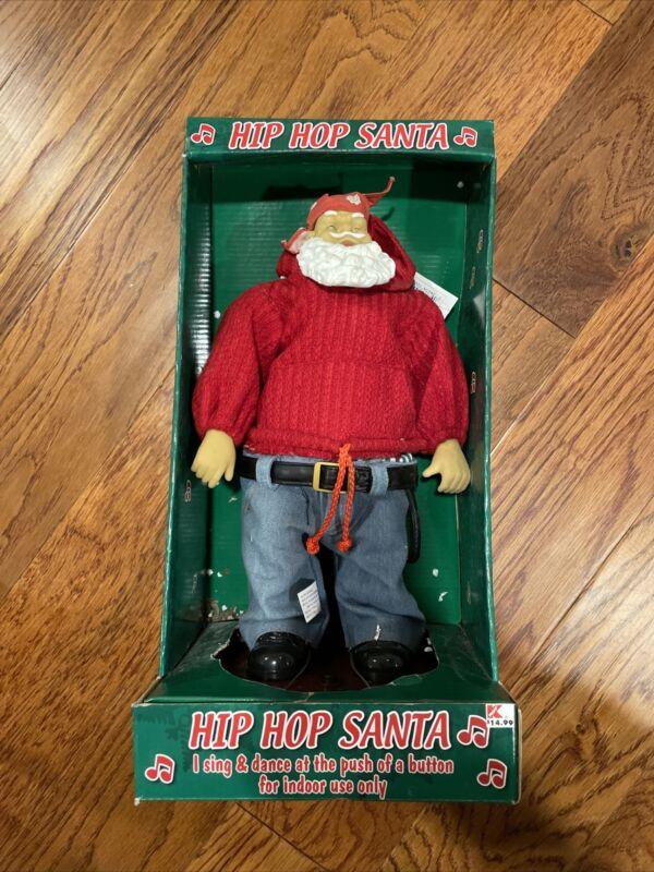 Hip Hop Santa RARE Animated Vintage Rapping Dancing Holiday Decoration TESTED