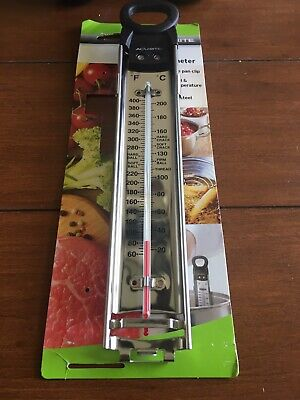 New AcuRite Stainless Steel Candy Deep Fryer Thermometer Cooking Baking Sweets