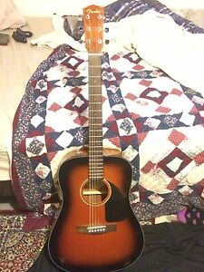 Fender Acoustic Model CD60SB Sunburst Mint Condition