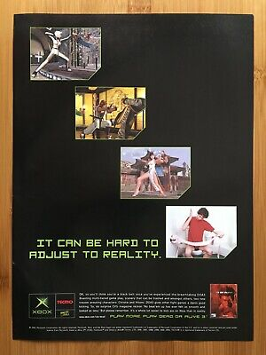 Dead or Alive 3 Xbox 2001 Vintage Print Ad/Poster Official UK Promo Art Fighting