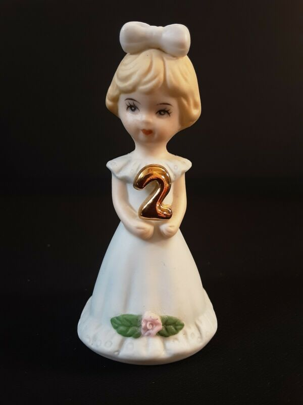 Enesco Growing Up Birthday Girls Figurine Age 2 Blonde Hair