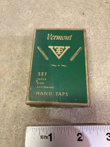 Vintage 1/4 20 NC   Set of Vermont  Lot of 3 Taps in Box  Lyndonville, VT USA