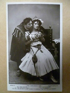 Theatre-Actors-Postcard-HARLEQUIN-KING-Lewis-Waller-Evelyn-Millard