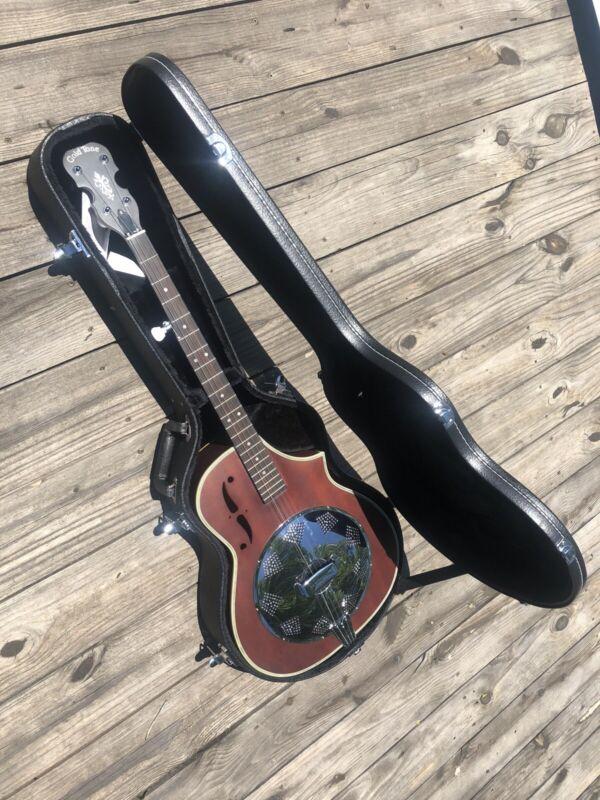 Gold Tone 5-String Dojo Banjo Guitar Unique Resonator