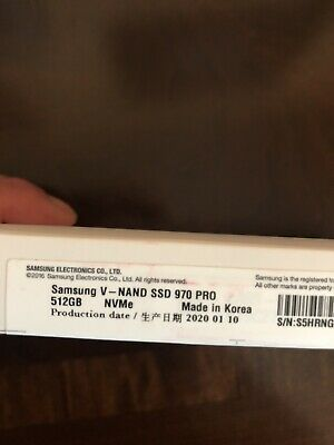Samsung V-NAND SSD 970 Pro NVMe M.2 512gb - Brand New Solid State Drive