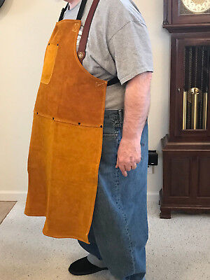 Big Tall Leather Shop Apron Safety Apparel For Welding Woodworkingetc