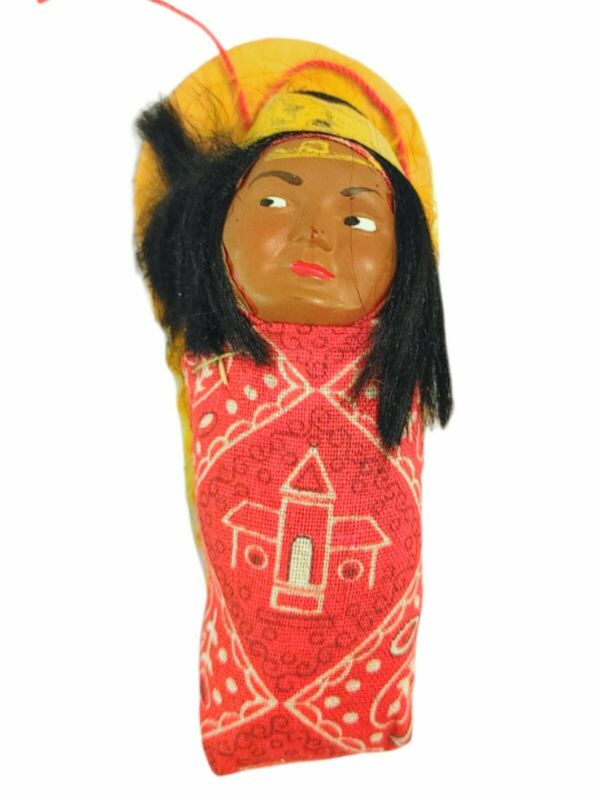 Antique Skookum Indian Doll- Papoose- Native American
