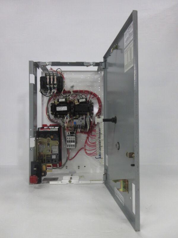 "General Electric GE 8000 24"" Reversing Size 1 Starter 3 Amp Breaker MCC Bucket"