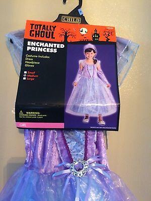 ENCHANTED PRINCESS COSTUME HOOP DRESS & TIARA & GLOVES DRESS-UP GIRLS SZ M  (Princess Gloves)