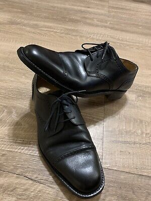 Bruno Magli Mens Italian Shoes Talbot Size 11 Black Leather for sale  Shipping to India