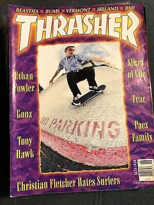 Thrasher Skateboard Magazine June 1995 Stereo Ethan Fowler Powell Tony Hawk Paez