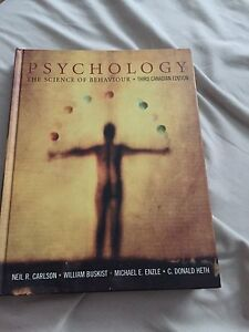 Psychology The Science of Behaviour: 3rd Canadian Edition
