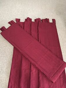 Panel Curtains - Red Wine Colour