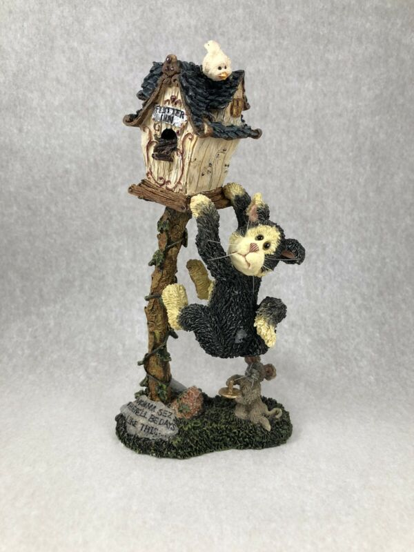 Boyds Bears Purrstone #371058 Heranamous Buttintrouble with Tack...Hang In There