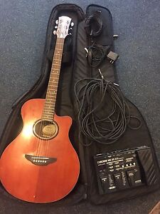 Yamaha Guitar APX 3  (electric pickup) & ME25 effects pedal