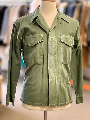 USMC rare KOREAN WAR  P-1958 Pattern Shirt - A+ EGA, OD Green, 40