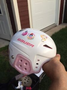 Casque de hockey junior pour fille