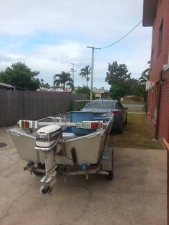 3.7M Sea Jay Boat with 15 HP motor and Trailer