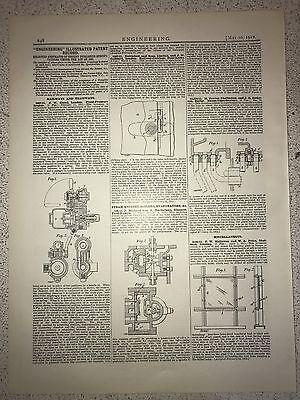 Railways, Tramways, Steam Engines, Boilers Etc.: 1912 Engineering Magazine Print