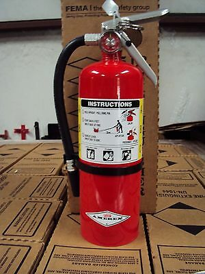 New 2018 Amerex 5-lb Abc Fire Extinguisher With Vehiclemarine Bracket Sign