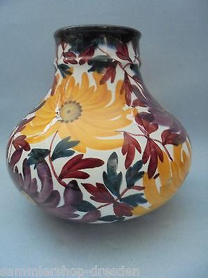27352 Schramberg Vase No. 1525 Astern handgemalt 20cm sehr gut ceramics SMF