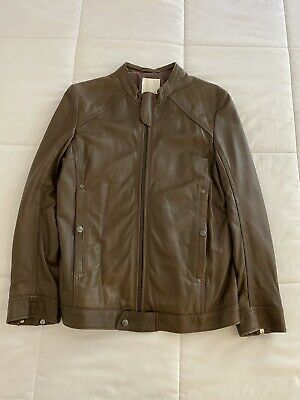 Diesel Men Genuine Biker leather jacket Small