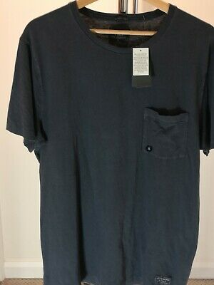 Mens Navy XL Abercrombie & Fitch Short Sleeve Cotton Garment Dyed T...