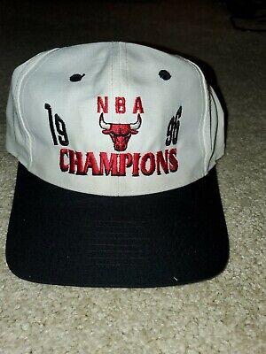 Vintage 90s Chicago Bulls 1996 NBA Champions Snapback Hat Cap Logo 7